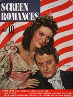 "Cover, ""Screen Romances,"" August 1942"