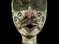 Red cedar, nails, Kwakwaka'wakw potlatch figure, c. 1930, Listening. . . site