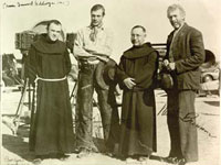 Photo, Fr. Augustine on location with film Westerners