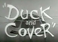 Screencapture, Duck and Cover, U.S. Federal Civil Defense Ad., 1951, Moving...