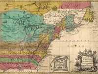 Map, A Map of the British and French settlements in North America, 1755