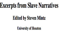 Title, Excerpts from Slave Narratives