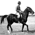Photo, Captain Tuttle riding a horse, Robert Runyon, South Texas Border, 1900-19