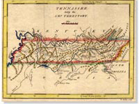 Map, Introductory graphic, 1796-1850, Tennessee Documentary History. . . site
