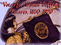 "Logo, ""Votes for Women"" Suffrage Pictures, 1850-1920"