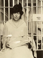 Photo, Lucy Burns in Occoquan. . . , Harris and Ewing, 1917, Women of Protest