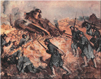 Painting, Second Battle of the Marne, World War I: Trenches on the Web