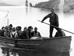 Photo, Camp Ferry crew on their way to lunch, 1939, WPA, Uni. of Washington