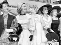 Photo, Prize-winning fashionable women at Beverly Wilshire Easter brunch, 1955