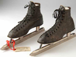 Strauss racing skates from c. 1921, Minnesota Historical Society