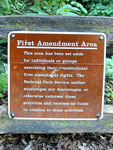 Photo, First Amendment Area, May 5, 2006, Thom Watson, Flickr, creative commons
